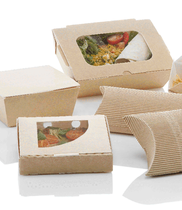 cardboard recycled food packaging disposable